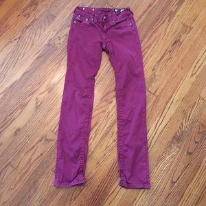 Miss me girls purple skinny jeans